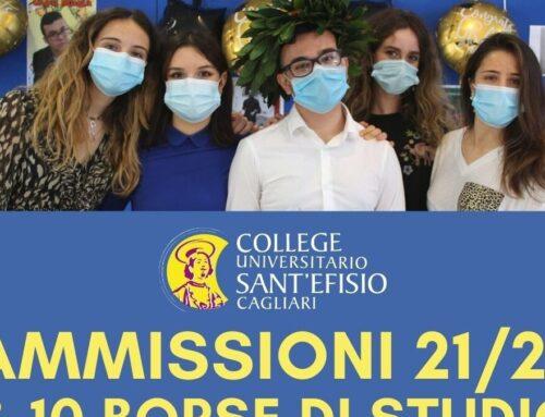 Bando di concorso per l'ammissione al College Sant'Efisio A.A. 21/22 e l'assegnazione di 10 borse di studio